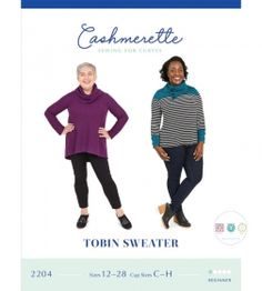 Cashmerette - Sewing for Curves - Tobin Sweater - Ladies Sewing Pattern - Dressmaking - Quilt Yarn Stitch Cozy Fashion, Sweater Fashion, Plus Size Sewing Patterns, Dress Making Patterns, Double Knitting, Stay Warm, Dressmaking, Stretch Fabric, Sweaters For Women
