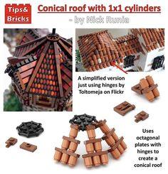 55 cones for each side Lego Winter, Lego Design, Roof Design, Lego Burg, Lego Robot, Lego Lego, Lego Moc, Construction Lego, Lego Furniture