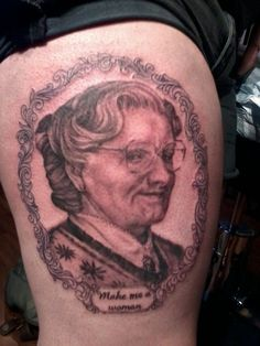 Mrs. Doubtfire. hehe the spelling of that is just...