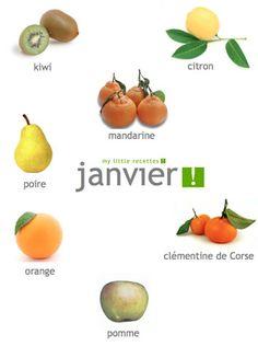 Les produits frais de saison fruits l gumes poissons - Fruit de saison decembre ...