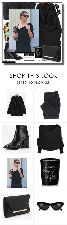 """black is my fav ...romwe.2."" by smajicelma ❤ liked on Polyvore featuring Bella Freud, Trish McEvoy, gift and sale"