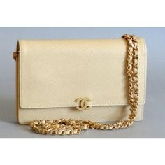 Vintage Light Beige Caviar Leather Chanel Chain Bag <3 <3 <3