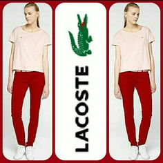 "Lacoste L!VE Denim Skinny Fit Jeans Skinny fit jeans are a year round essential with the added bonus of exquisite Lacoste Live style. With springtime ballerinas, summer sandals, autumn derbies or winter boots, they've got you covered in style. Every woman's wardrobe needs at least one pair of these skinny jeans for a sleek silhouette that's comfortable and versatile. Retails for$125.   Details: ☆Size: 28 ☆Skinny fit ☆98% Cotton, 2% Elastane  ☆9"" Rise ☆Waist: 16"" across  ☆32.5"" Inseam…"