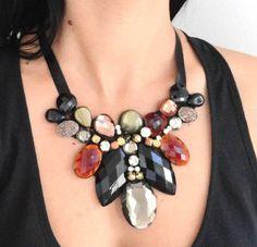 Maxicolar Zazuá Ideas, Black, Jewelry, Fashion, Bib Necklaces, Satin Ribbons, Diy Kid Jewelry, Beauty, Home
