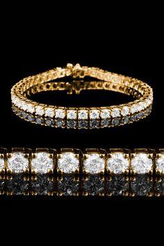 Bijoux Majesty 4.1 CT Gold & Diamond Tennis Bracelet, I love this!!