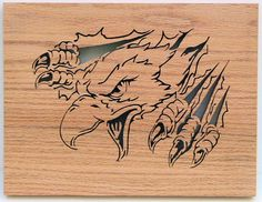 Eagle Rip - I just love the way this Eagle breaks through the board. This cutting is for the brave at heart.