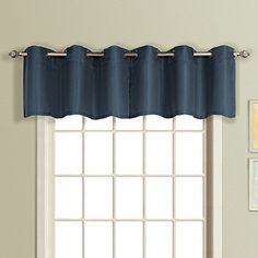 American Curtain and Home Foxborough Window Treatment Valance, 54-Inch by 18-Inch, Navy