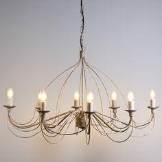Candelabro ZERO BRANCO 8 taupe  #clasica #iluminacion #decoracion