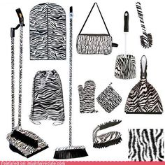 Zebra zebra zebra everywhere.  Maybe if I get her this...she will be more inclined to be my personal housekeeping slave..