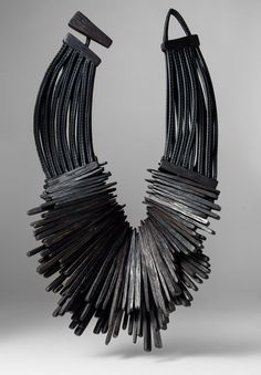 Monies Radial Ebony & Leather Necklace