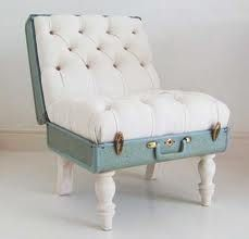 crazy furniture designs - Google Search trunk seat, vintage suitcases, chairs, old suitcases, decorating ideas, vintage luggage, crafti idea, design, crazy furniture