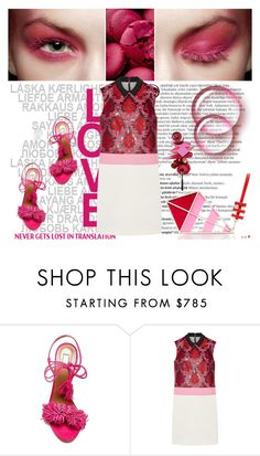 """""""PinkPower"""" by shaneeeee ❤ liked on Polyvore featuring Balmain, Aquazzura, Mary Katrantzou, Kate Spade, women's clothing, women's fashion, women, female, woman and misses"""