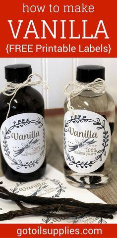 FREE Homemade Vanilla Labels Printable, Tags & Recipe ...