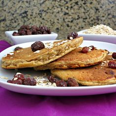 Oatmeal Raisin Cookie Pancakes | Alida's Kitchen