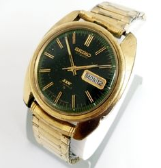 Vtg Seiko Automatic DX 17J 6106-8769 Green Dial Day Date Mens Watch Vintage   | eBay