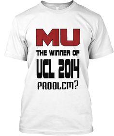 MU the Winner of UEFA Champions League | Teespring