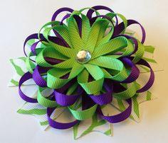 Layered Zebra Flower Hair Bow by creativecaitlin on Etsy, $6.00