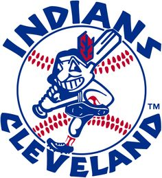 Kind of innapropriate by todays rules but we are built on history. Cleveland Indians Logo - Chief Wahoo swinging a baseball bat with team name around Cleveland Team, Cleveland Indians Baseball, Baseball Park, Cleveland Rocks, Baseball Teams, Baseball Field, Baseball Scoreboard, Baseball Helmet, Baseball Live