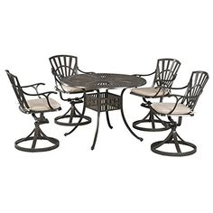 Bowery Hill 5 Piece Dining Set with Cushions in Taupe -- For more information, visit image link.(This is an Amazon affiliate link and I receive a commission for the sales)