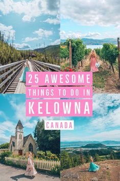 25 Awesome Things to do in Kelowna : The Ultimate Kelowna Travel Guide. From wineries to lakeside activities, outdoor adventures and hikes galore. This post has 25 amazing things you need to see and do when visiting Kelowna, British Columbia in Canada. Cool Places To Visit, Places To Travel, Travel Destinations, Places To Go, Adventure Activities, Travel Activities, Water Activities, British Columbia, Columbia Travel