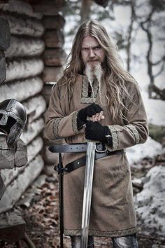 """Marko Hietala from Nightwish in Viking garb. Badass. """"There's noting romantic about being a frost-covered Viking in Scandinavia. It's really cold!"""" - Marko"""