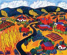 "Road into the Mountains, 50""x60"" by Barbara Gurwitz, oil on canvas. http://wildemeyer.com/artists/barbara-gurwitz/"