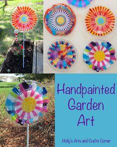 Hollys Arts and Crafts Corner: Craft Project: Handpainted Garden Art