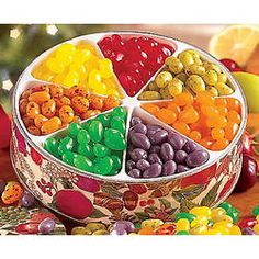 .:4th Anniversary: Fruit/Flowers:.  Jelly Belly Jelly Beans Gift Tin