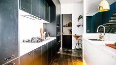 Michael and Carlene delivered a near perfect kitchen, according to the judges.The Block Glasshouse Australia Kitchen Reno, Kitchen Design, Kitchen Ideas, Kitchen Stuff, The Block Glasshouse, Island Bench, Splashback, Kitchen Pictures, Glass House