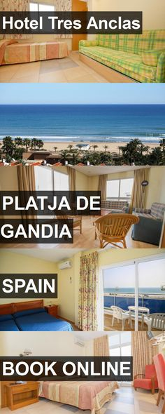 Hotel Tres Anclas in Platja de Gandia, Spain. For more information, photos, reviews and best prices please follow the link. #Spain #PlatjadeGandia #travel #vacation #hotel