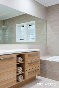 Vanity In Ravine Natural Oak Bathroom Bathroom Bathroom Photos, Diy Bathroom Decor, Bathroom Renos, Bathroom Styling, Bathroom Furniture, Bathroom Interior, Bathroom Ideas, Oak Bathroom Cabinets, Oak Bathroom Vanity