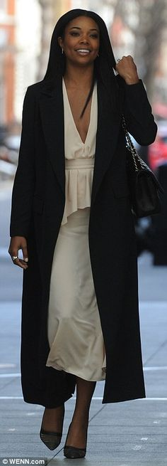 Warming trend: Gabrielle Union stepped out in two amazing ensembles in London on Friday wh...