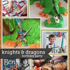 Knights & Dragons Birthday Party