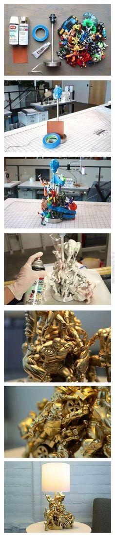 How To Create A Superhero Lamp. I want one!!!