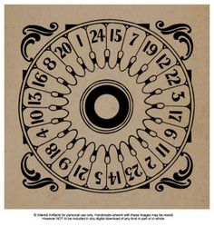 FREE ANTIQUE GAME SPINNER PRINTABLE                                  From ALTERED ARTIFACTS: Printables