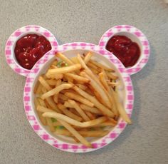 Mickey Mouse French fries and ketchup ears