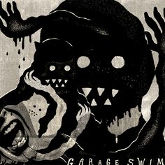 Garage Swim by Trey Wadsworth, via Behance #music #illustration #graphic #design #contrast