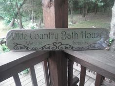Bathroom decor, primitive bathroom sign, rustic bathroom sign, primitive home decor, hand painted sign, wood signs