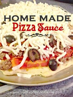 Easy Homemade Pizza Sauce Recipe. Recipe for one pizza and how to make it in bulk and store for later!