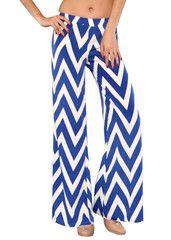 Blue Chevron Pants $36 Shipped!  Studio 706 Boutique <3