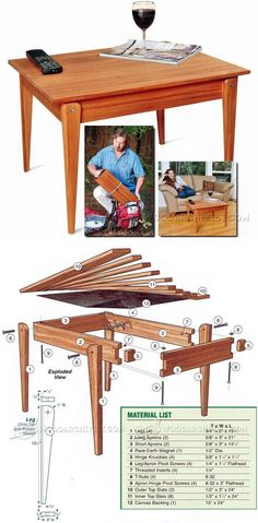 Folding Table Plans - Furniture Plans and Projects | WoodArchivist.com