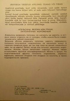 Vintage Estonian recipe card.