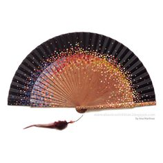 MADE TO ORDER hand painted spanish fan. Custom hand fan by dsnu