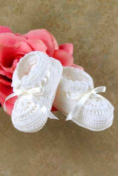 crocheted baby booties to match crocheted over coat
