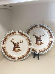 Big Sky Carvers Brushwerks Moose Dinner Plate 10-5/8  | Big sky Moose and China china & Big Sky Carvers Brushwerks Moose Dinner Plate 10-5/8