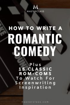 Have you ever thought about writing a romantic comedy screenplay? The genre has made a comeback, so it's definitely a good time to write a rom-com. Get the basics here, plus recommendations for 15 classic rom-coms to study. Romantic Films, Romantic Scenes, Book Writing Tips, Writing Prompts, Writing Corner, Writing Ideas, Screenplay Format, Documentary Filmmaking, Filmmaking Quotes
