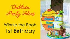 Kids party ideas:  Winnie the Pooh 1st Birthday decorations and set up
