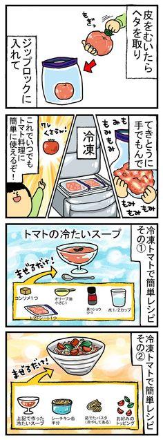 まめきちまめこ 独り立ちの流儀 第6回「冷凍トマトシート料理」│#タウンワークマガジン