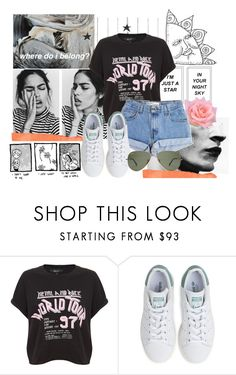 """you're a peach"" by tuhlipsandvogue ❤ liked on Polyvore featuring Polaroid, Levi's, adidas, fashionable, fashionset, polyvorecontest and polyvoreset"