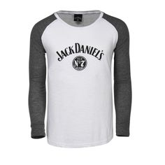 <p>Feminine fit long sleeve t-shirt with contrast elbow patches on sleeves. Slub finish adds a subtle texture. SM-2X. Jack Daniels Old No. 7 logo printed on the front.</p> <p>While Supplies Last.</p>